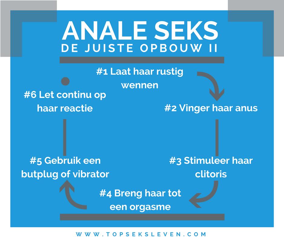 de juiste volgorde voor anale seks