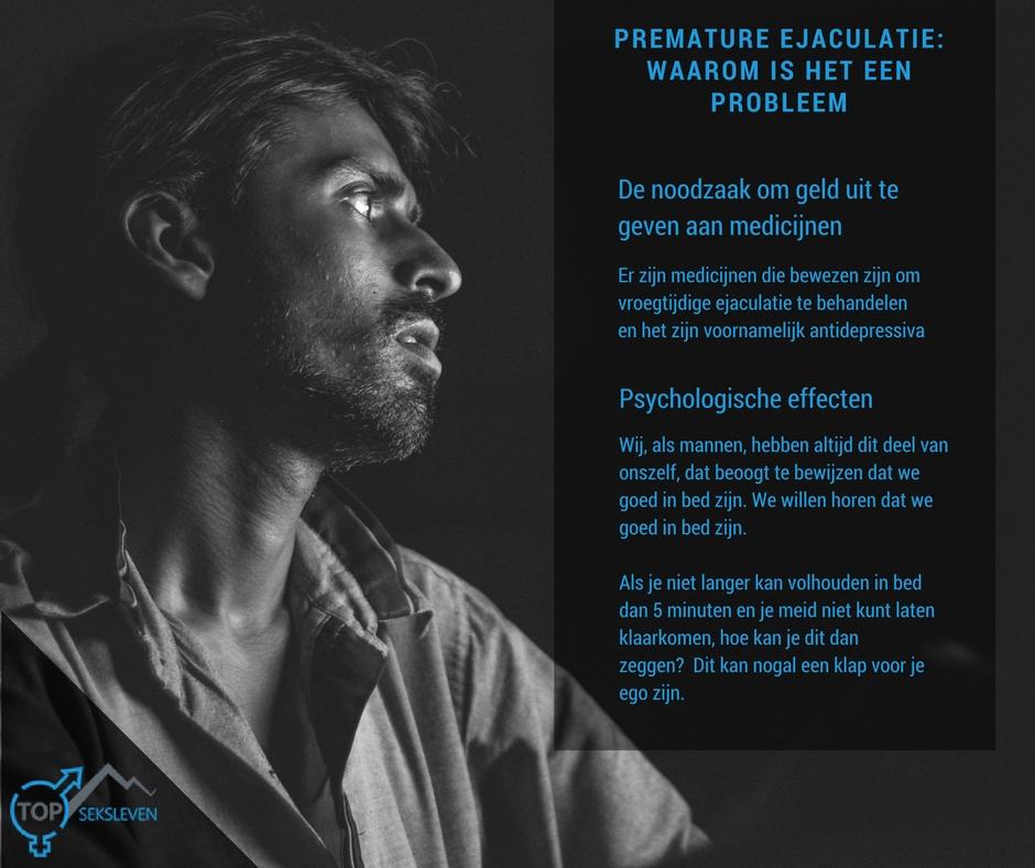 Premature ejaculatie verslaan met medicijnen