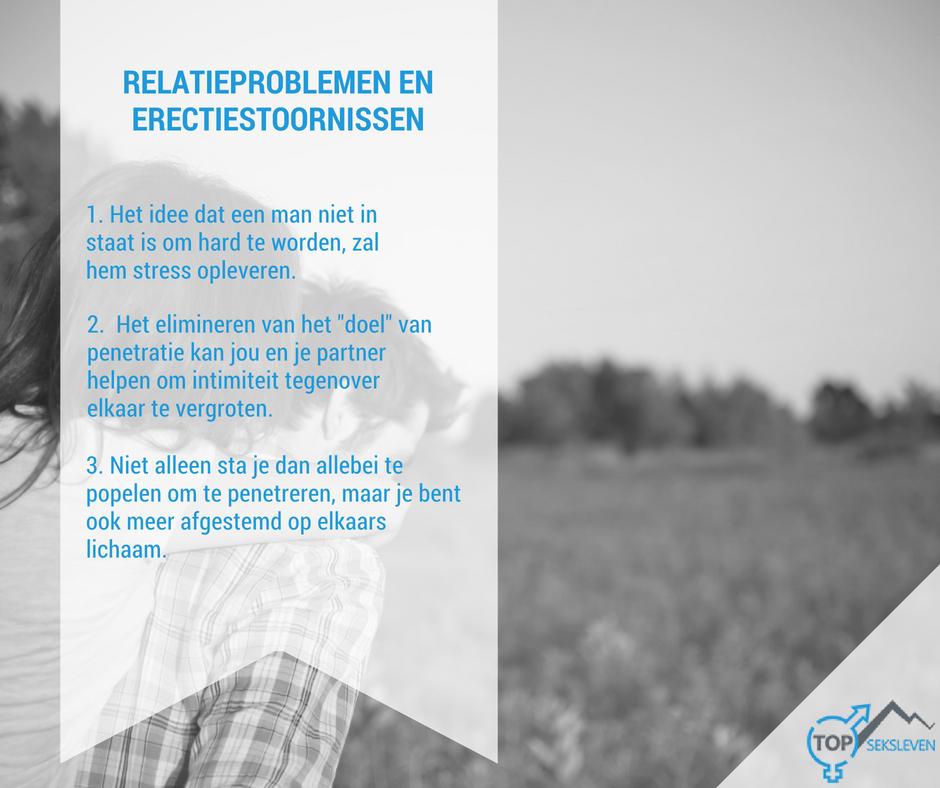 Verband tussen erectiestoornissen en relatieproblemen
